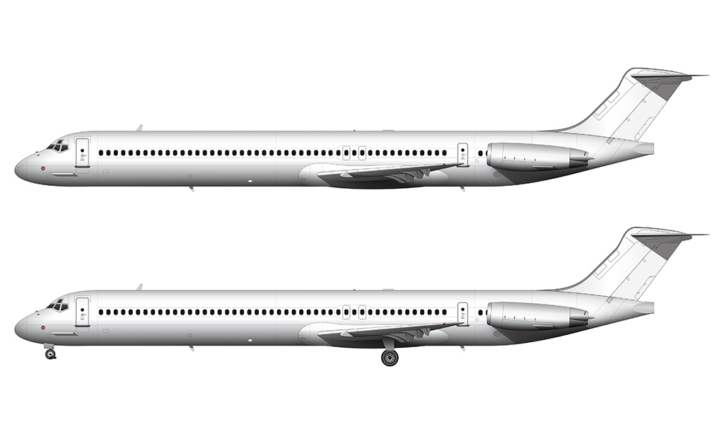 MD-80 side view blank