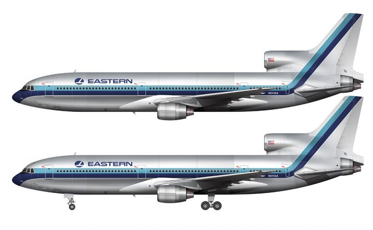 side view eastern airlines l-1011 tristar