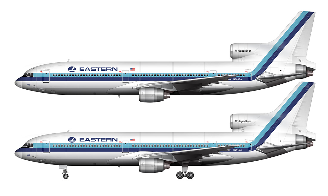 white eastern airlines l-1011