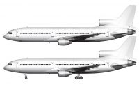 all white lockheed l-1011 template