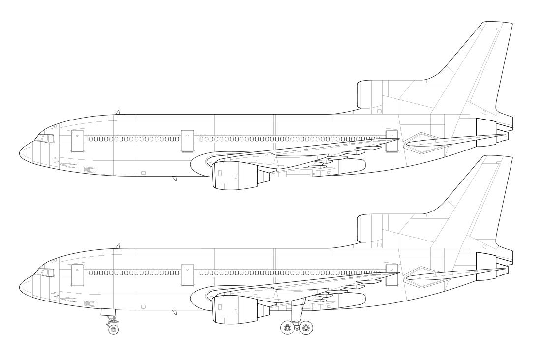 Line Drawing Jet : L norebbo