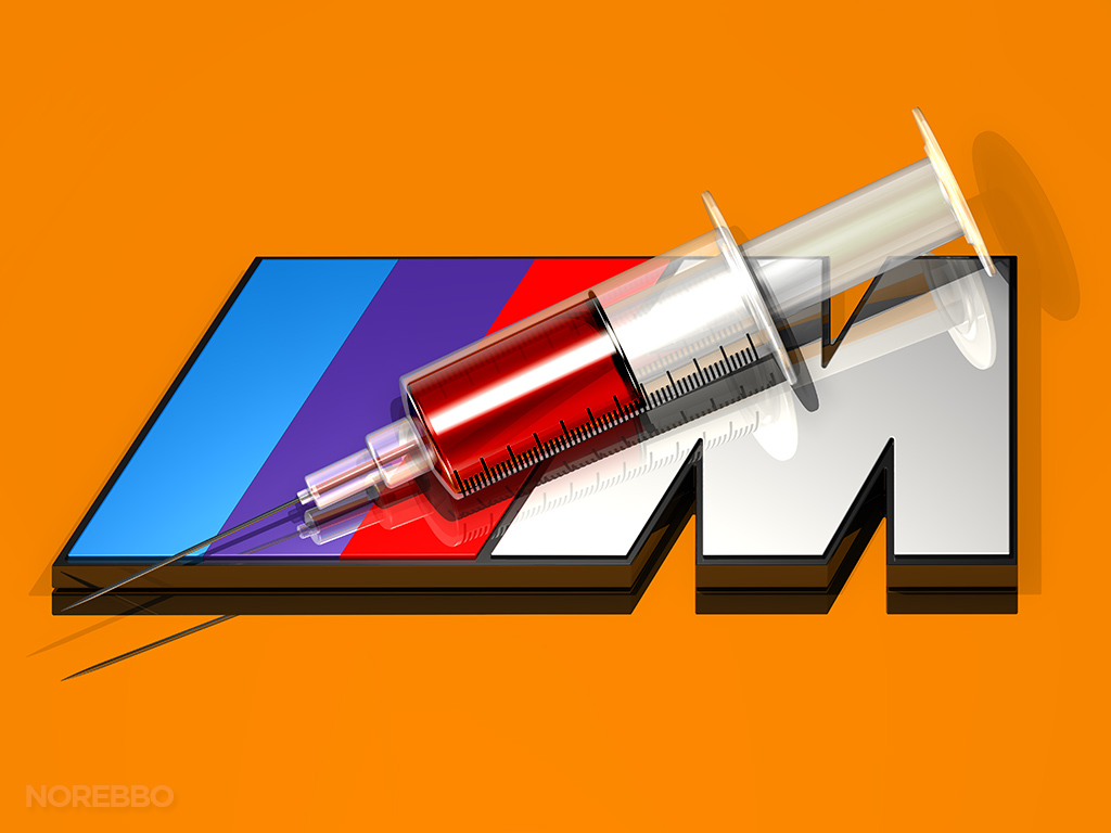 BMW M logo 3d addiction