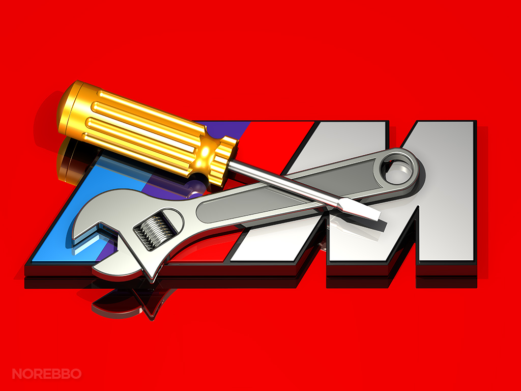 BMW M logo with wrench and screwdriver