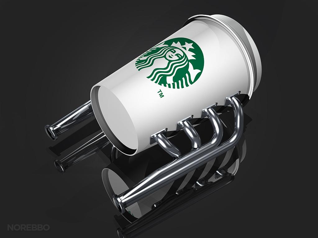 Starbucks coffee cup engine