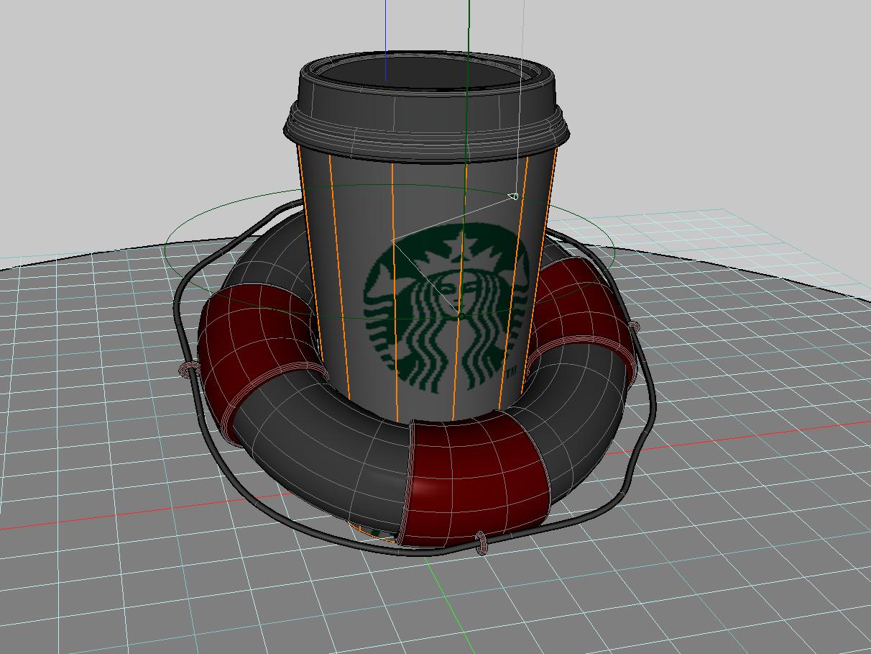 screenshot of formZ modeling window placing textures