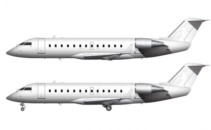 CRJ-200 all white side view