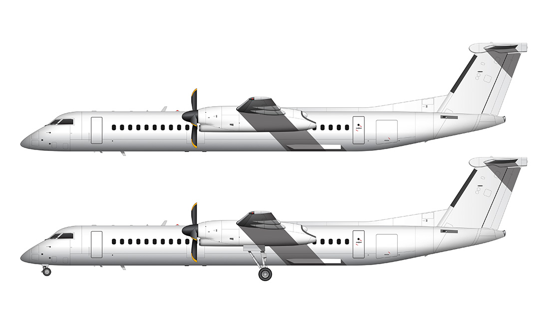 bombardier Q400 all white