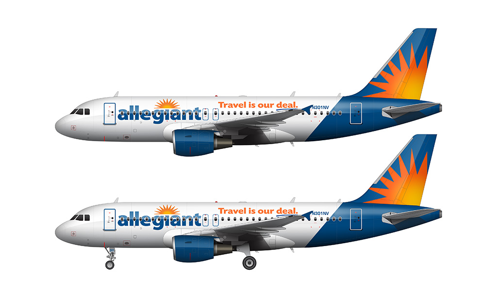 Allegiant Air A319-111 side profile
