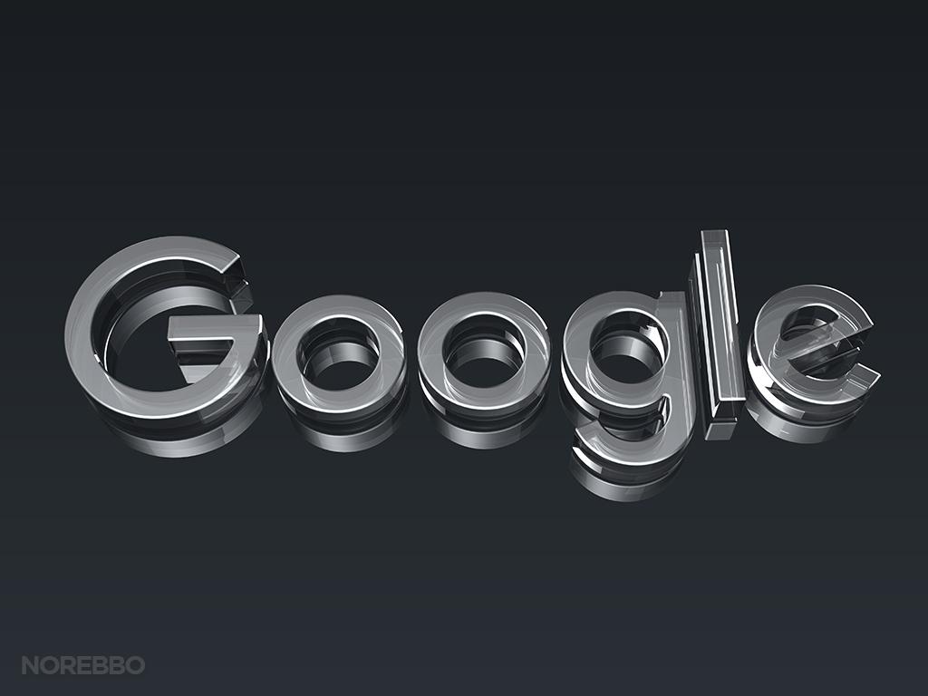 new google logo 3d rendering