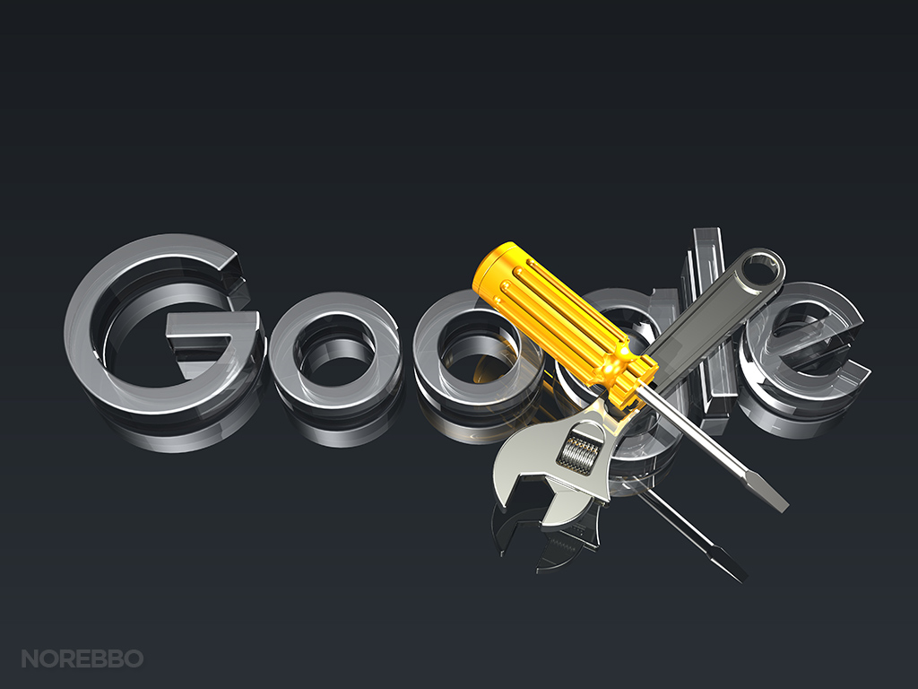 new google logo in 3d