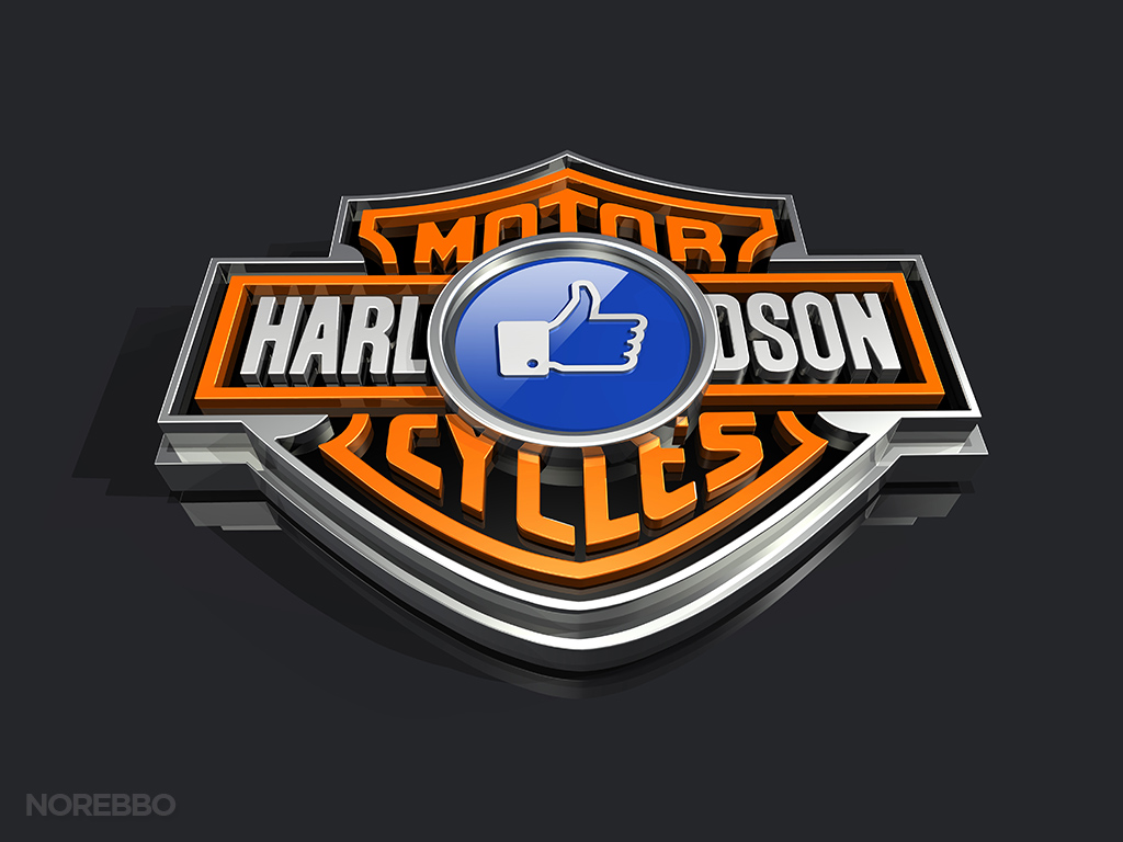 like harley davidson on Facebook