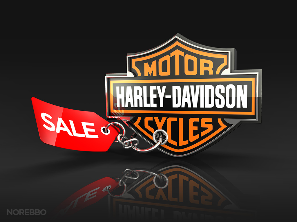 harley davidson logo with sale tag