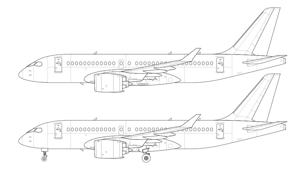 CSeries CS100 line drawing