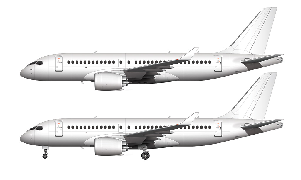 CS100 side view CSeries