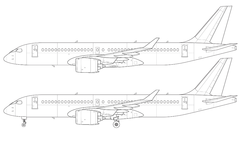 Drawing Lines With C : Bombardier cs blank illustration templates norebbo