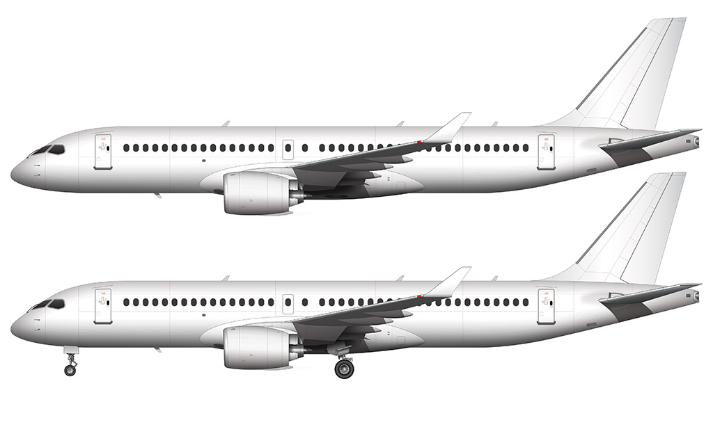 white CS300 side view