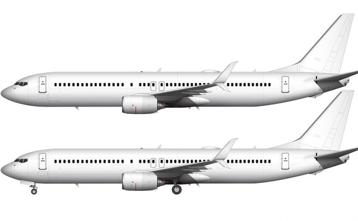 737-900ER split scimitar side view