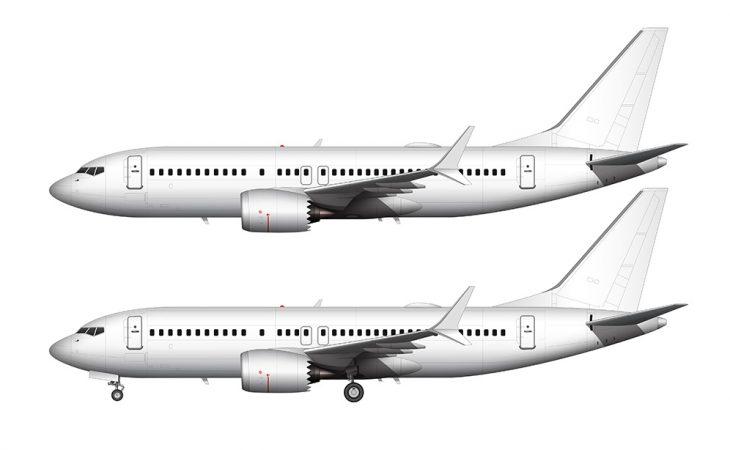 737 MAX 7 all white