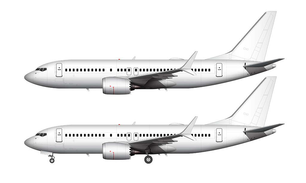 boeing 737 MAX 7 side view