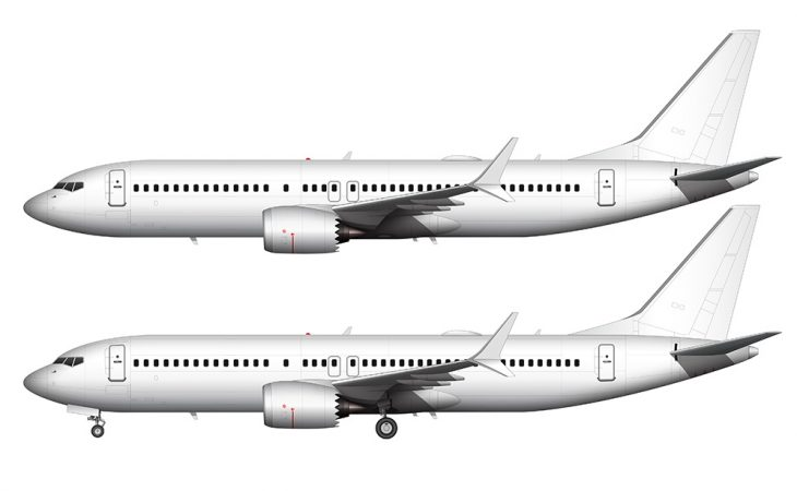 737 MAX 8 side view