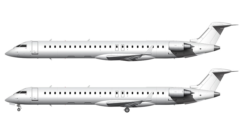CRJ-900 side view all white