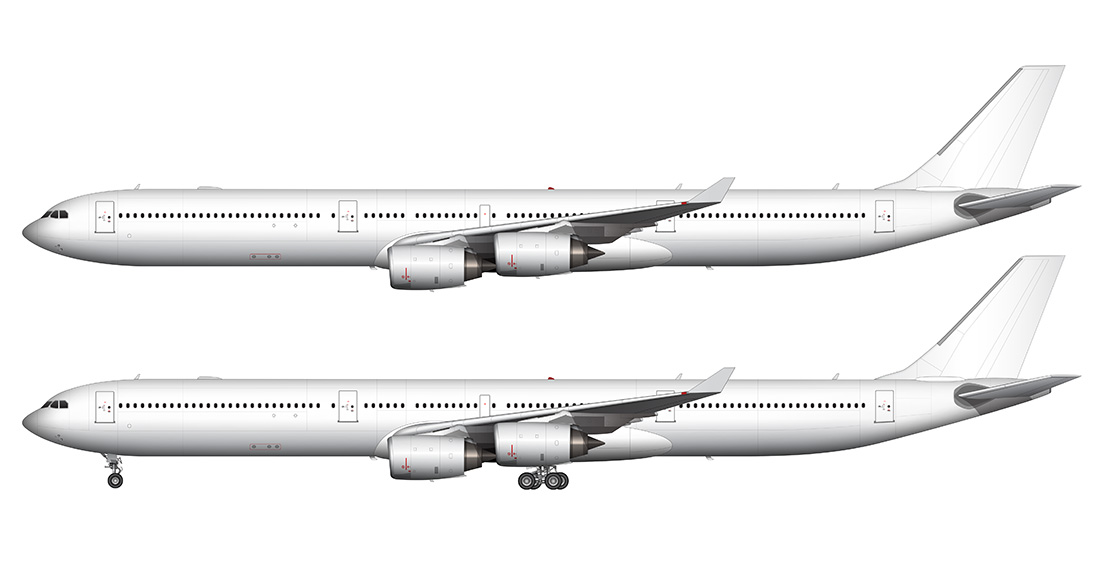 Boeing 757-200 (with Pratt & Whitney engines) blank illustration