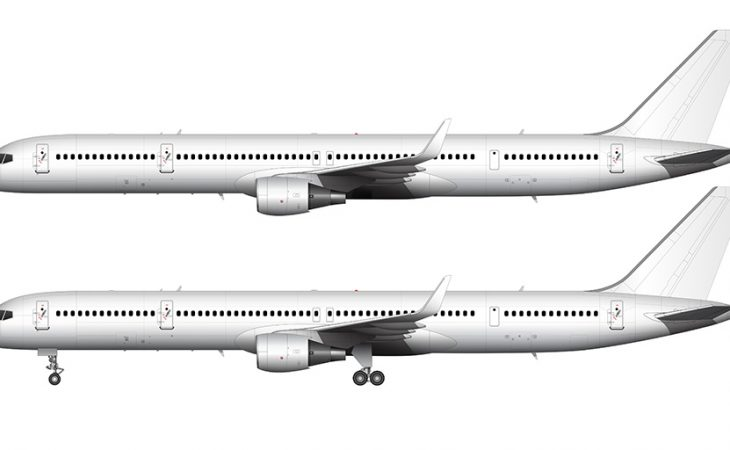 757-300 template side view white