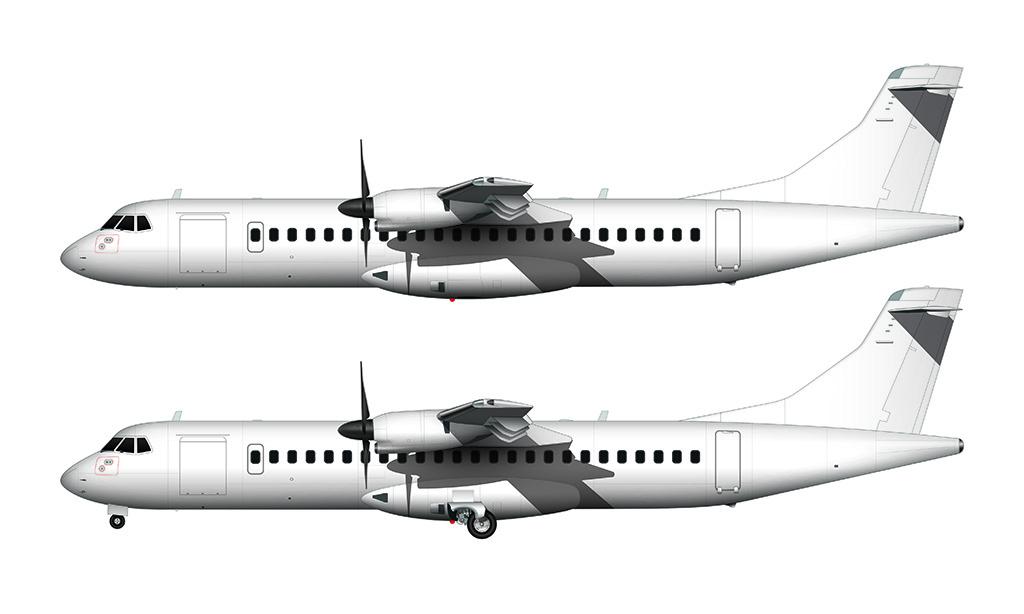 ATR 72 side view
