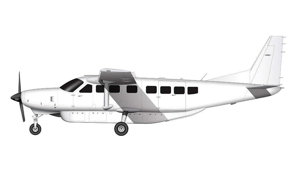 cessna 208 grand caravan side view