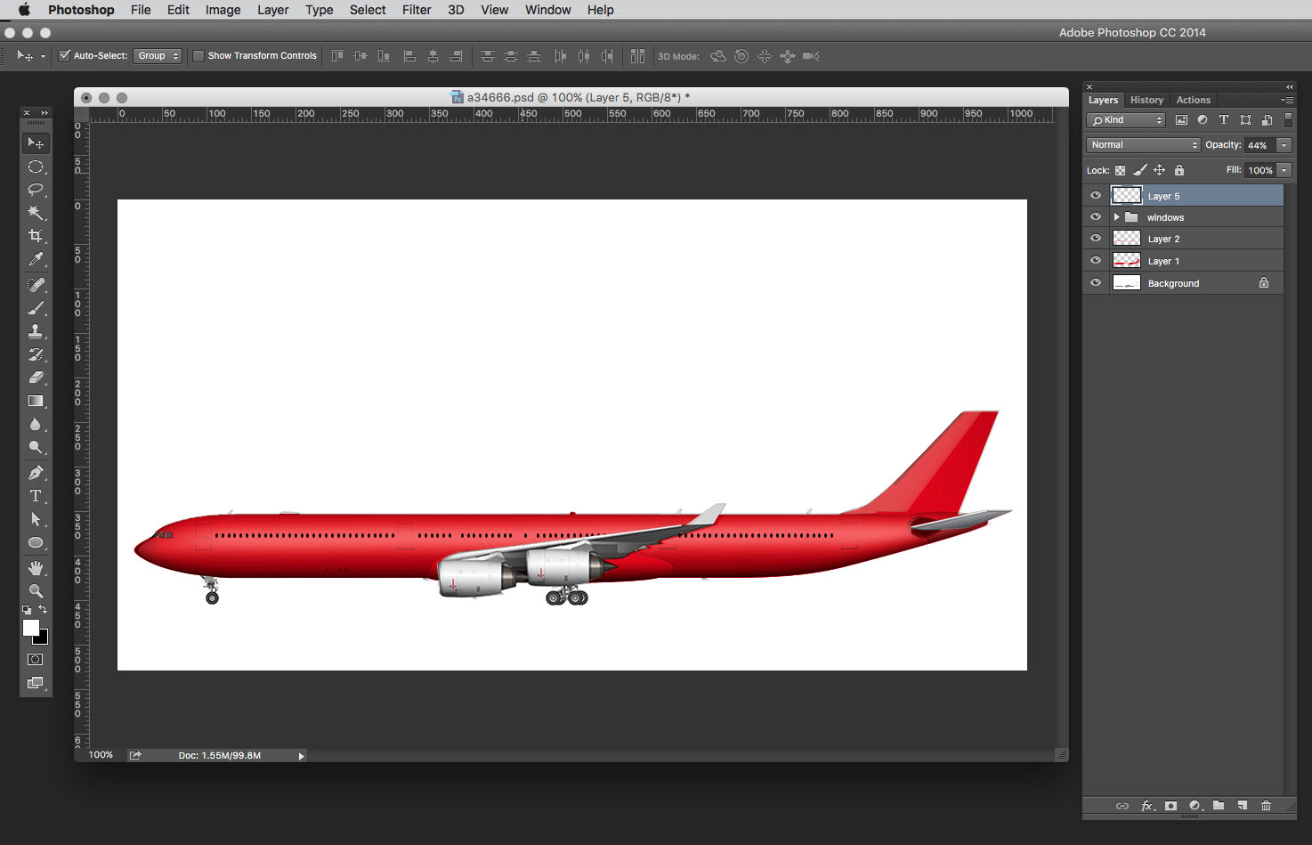 aircraft painting almost complete