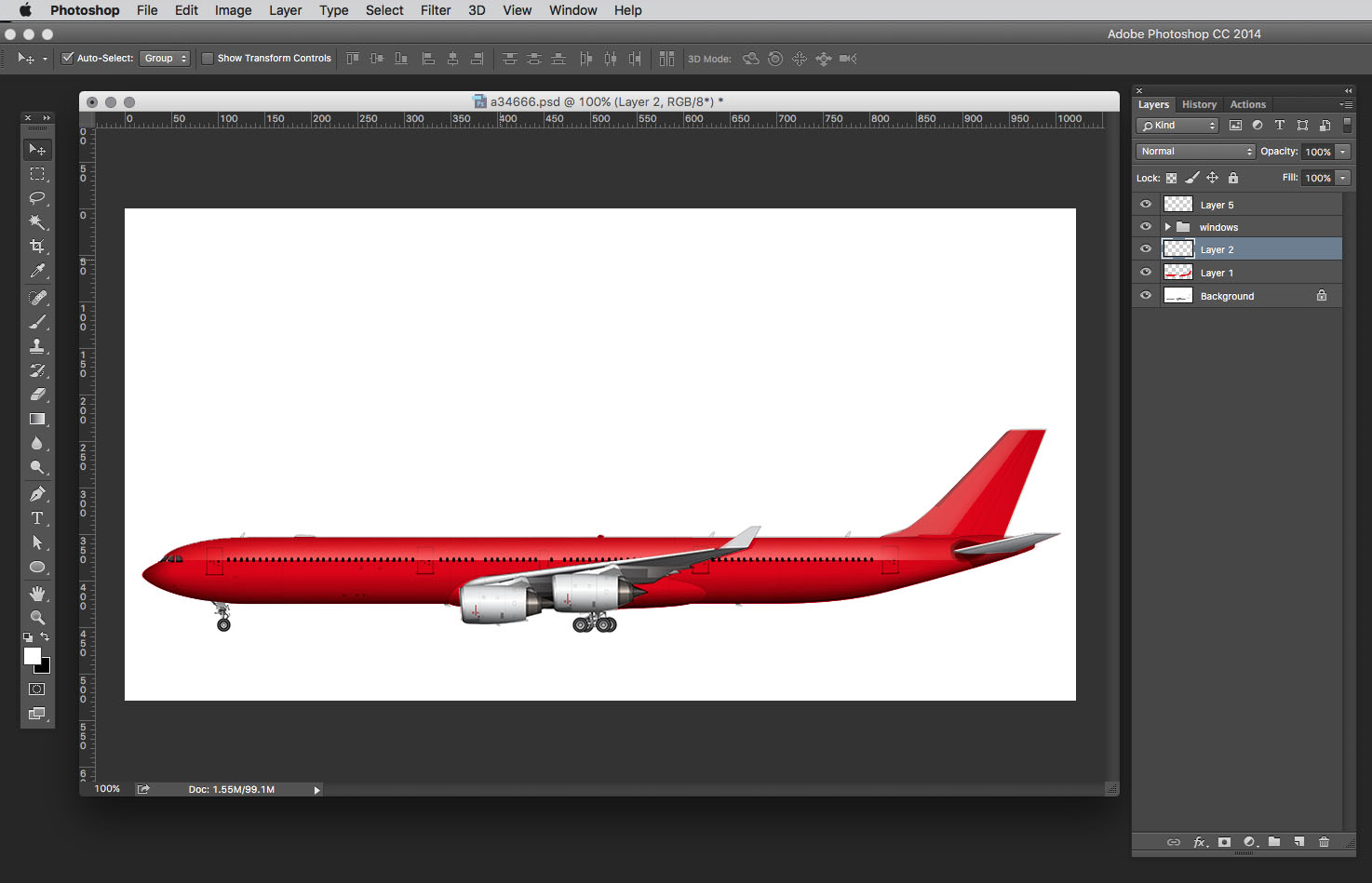 airliner template painting complete