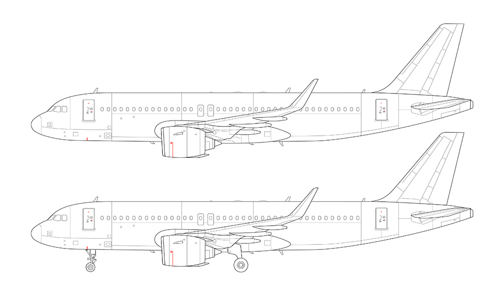 Airbus A320 NEO line drawing