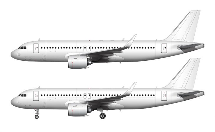 A320 NEO side view no titles