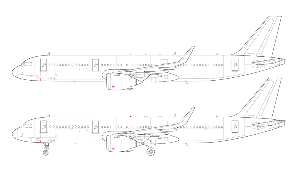 Airbus a321 neo leap 1a engines blueprint