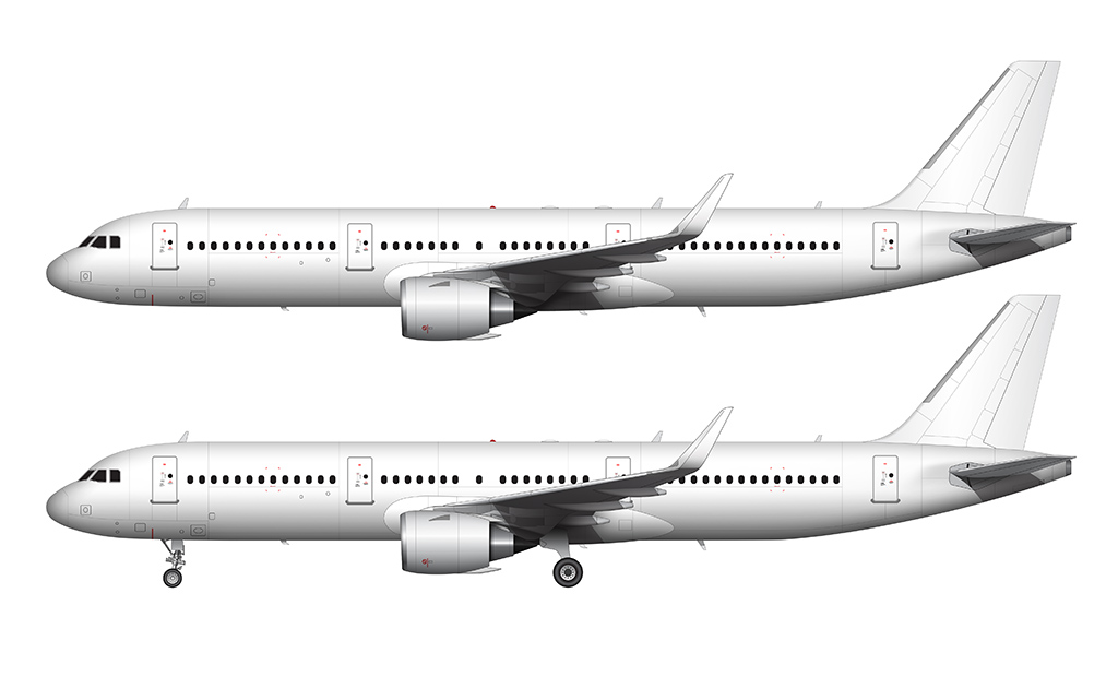 a321 neo leap 1a engines side view