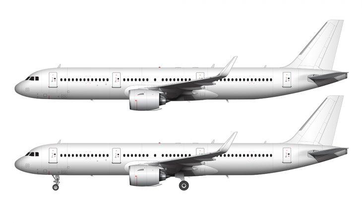 A321 NEO side view no livery