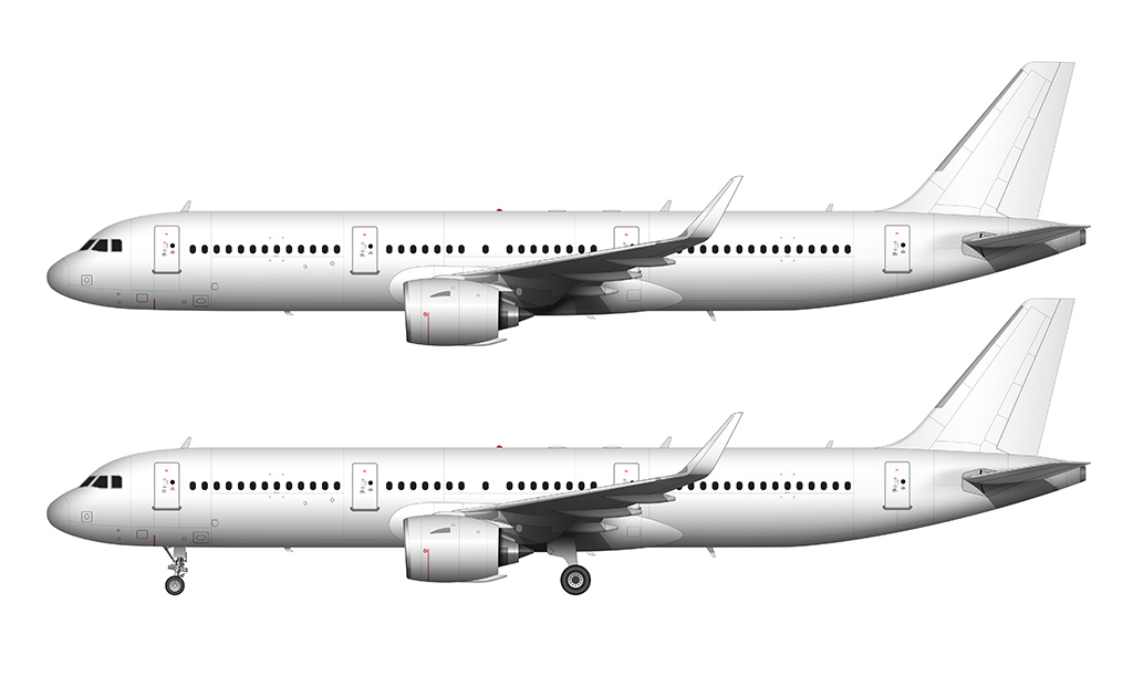 A321 NEO side view no livery