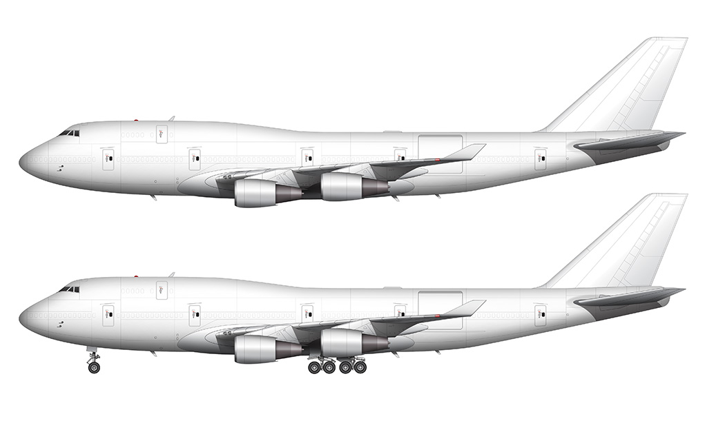 747-400BCF side view