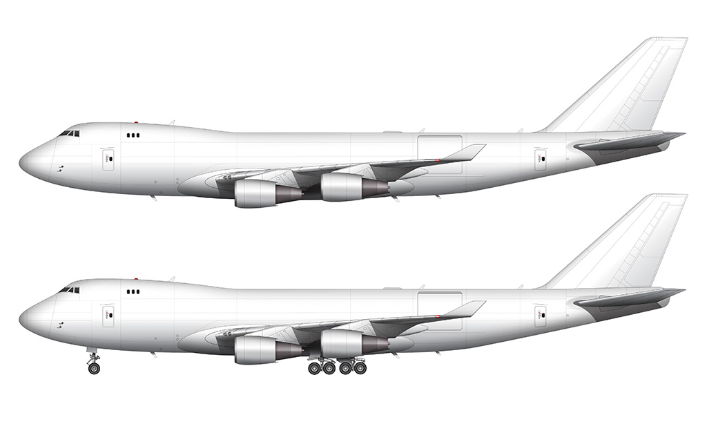747-400F side view