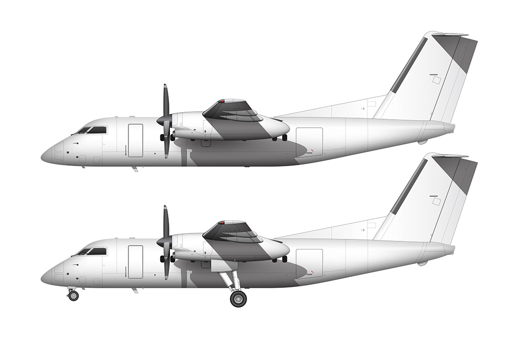 Dash 8 side view