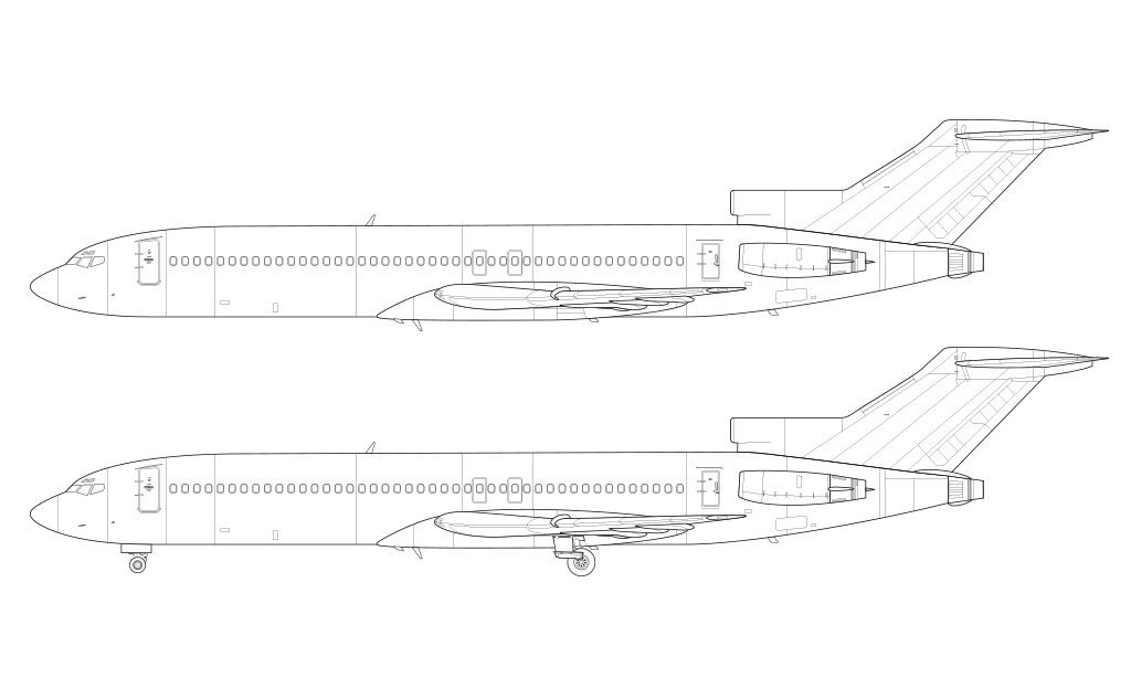 boeing 727-200 blueprint