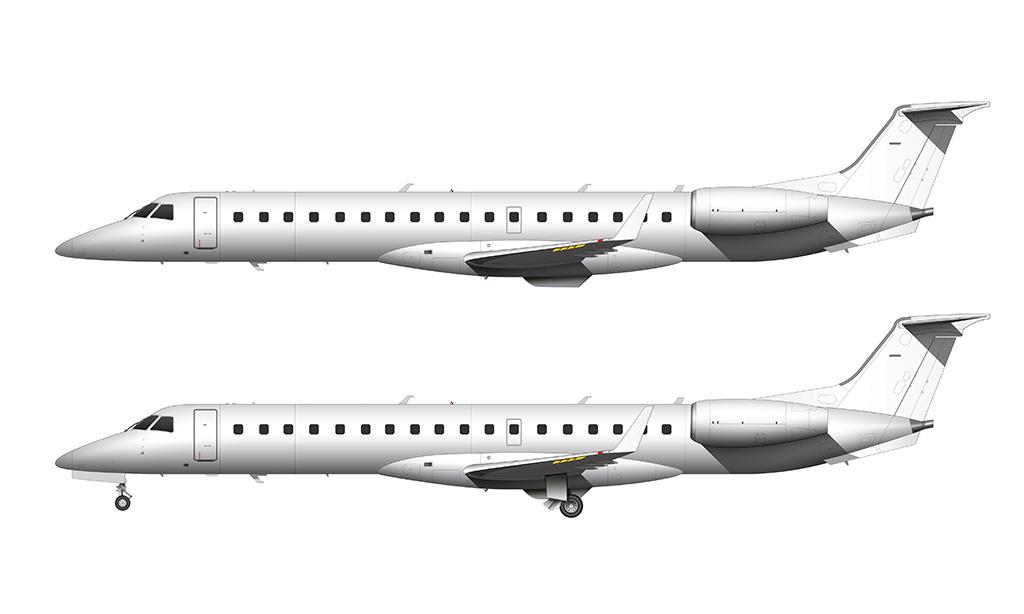 ERJ-145XR side view