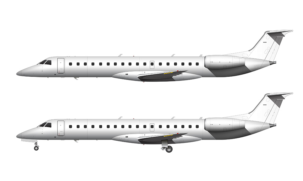 ERJ-145 side view drawing