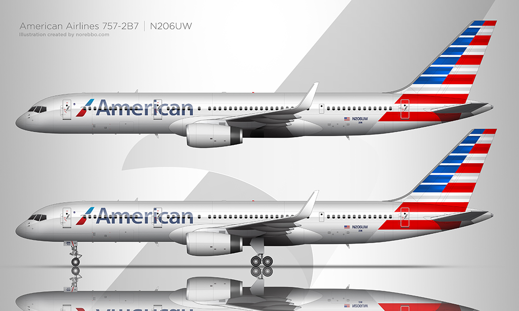 American Airlines 757-200 side view