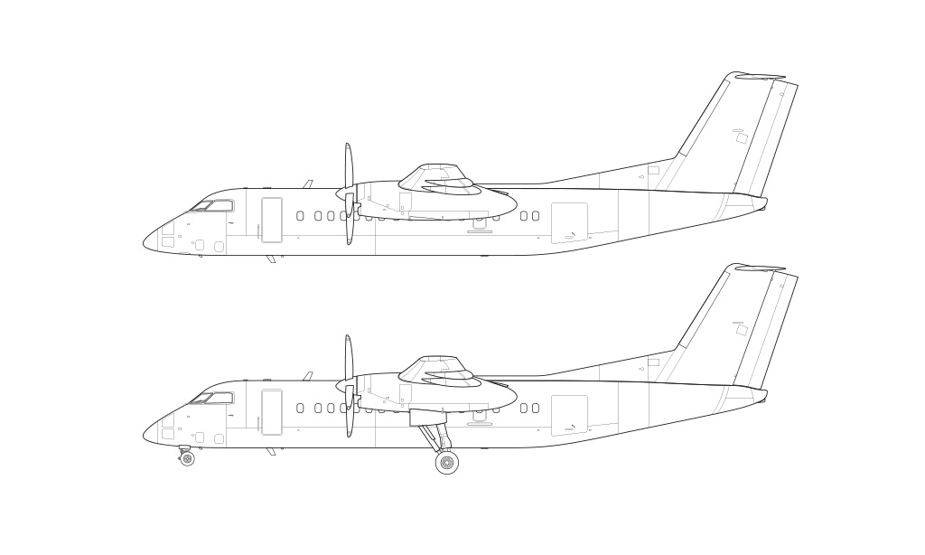 Dash 8 Q300 blueprint