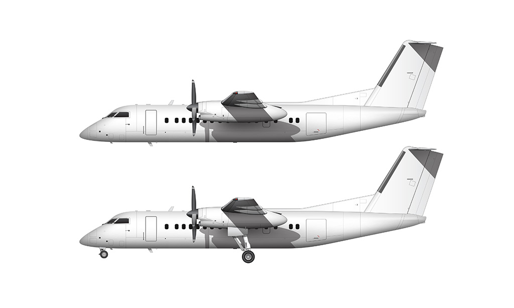 De Havilland DHC-8-300 side view