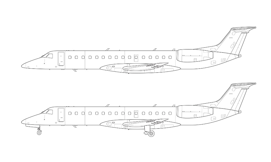 ERJ-140 side view blueprint