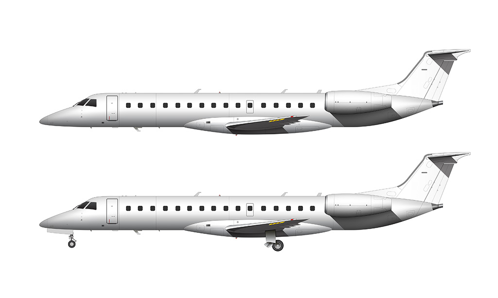 ERJ-140 side view all white