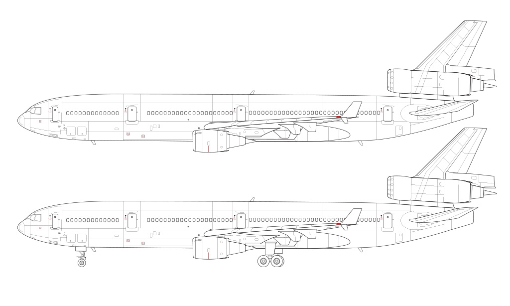 MD-11 blueprint