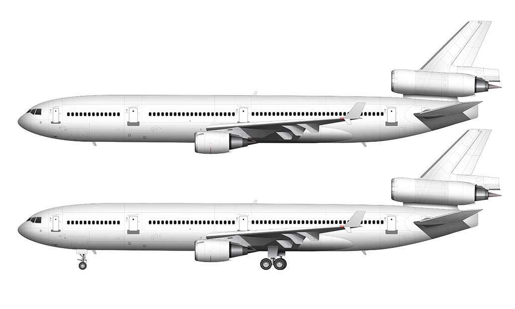 McDonnell Douglas MD-11 side view